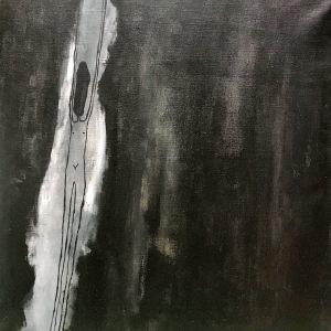 """<span class=""""title"""">Úzkost</span><br>50 x 50, akryl na plátně, 2019, k dispozici"""
