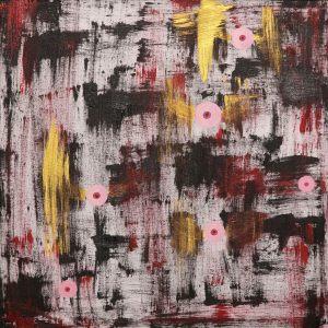"""<span class=""""title"""">Poskvrněné početí</span><br>50 x 50, akryl na plátně, 2015, prodáno"""